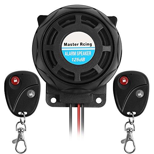 Rupse Motorrad Alarmanlage, Alarm mit 2 Fernbedienung Wasserdicht Diebstahlsicherung für alle Roller Moped oder Quad mit 12 Volt