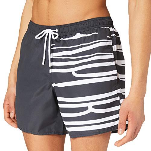 Emporio Armani Swimwear Boxer Brand Evidence Bañador, Emporio Armani Black, 3XL para Hombre