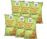 FitJoy Gluten Free Pretzels, Hatch Chile Lime Twists, Grain Free, 4.5 Ounce Bags, 6 Pack