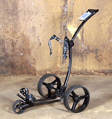 Yorrx® Slim Lion Pro 5 PLUS Golftrolley/Golfwagen/Golf Cart; AKTION: GRATIS REGENSCHIRMHALTER (Schwarz) - 9