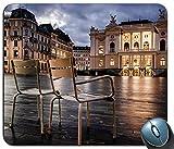 Not Applicable Zurigo Svizzera Sedie Luci Edifici cittadini Tappetino per Mouse Rettangolare da Gioco Mousepad