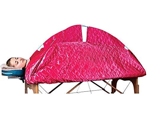 STEAMFLEX Portable Steam Sauna fits Massage Tables red