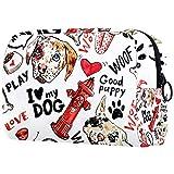 Bolsa de brochas de maquillaje personalizable, bolsa de aseo portátil para mujeres, bolso cosmético, organizador de viaje para perros, incendios
