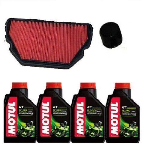 MGM Kit révision Honda CBR 600 F 1999 2000 Huile Motul 5100 15W50 Filtre à huile AR