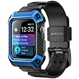 SUPCASE [Unicorn Beetle Pro] Designed for Apple Watch Series 6/SE/5/4 [44mm], Rugged Protective Case with Strap Bands(Blue)