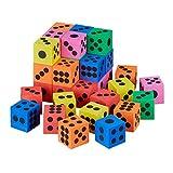 Relaxdays 10030810 Flüsterwürfel, 36er Set, HxBxT: 4 x 4 x 4 cm, Kindergarten, Vorschule, Schule, Schaumstoffwürfel, Mehrfarbig
