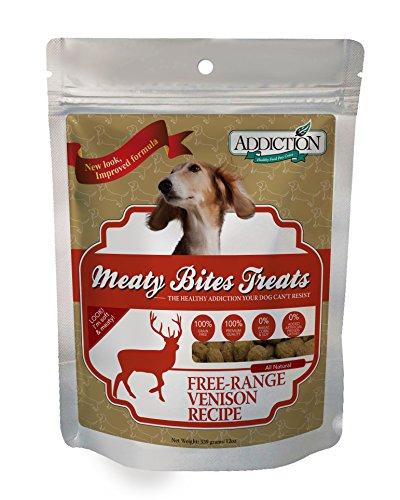 Addiction Grain Free Meaty Bites Venison Pet Dogs Snack Soft Treats Food 12z