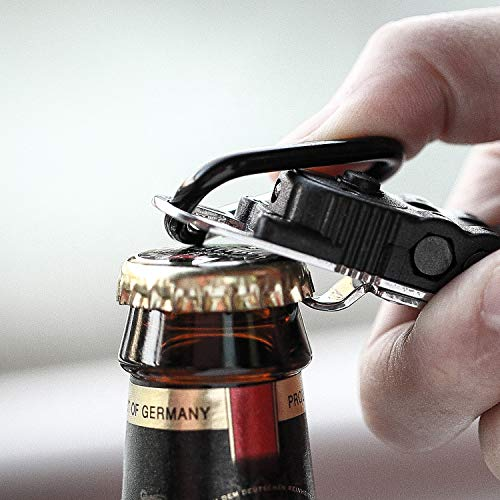 Multitool Screwdriver, 7 in 1 Pocket Multitool, Compact Portable Mini Outdoor Tool, with Bottle Opener, LED Lights, Mountaineering Buckle, Small and Medium Cross Screwdriver and one-Word Screwdriver