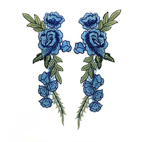 2st borduurwerk bloem Decor Patch jurk hoed naaldwerk jeans stoffen, Patch jurk hoed tas Jeans stoffen ambachten kleding accessoires DIY