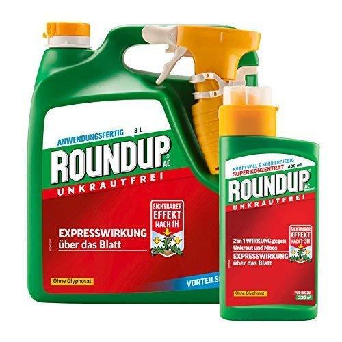 Roundup AC 3 Liter Anwendungsfertig + 400 ml Konzentrat
