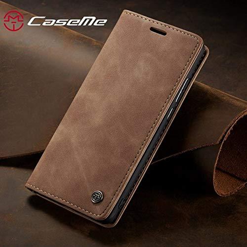 PCFNSS telefoonhoesje voor Samsung Galaxy A20 A30 Hoesje Lederen Magnetische Flip Portemonnee Telefoon Boek Top Shell Folding Cover Voor Samsung A 20 A 30 5.84inch A20e Brown Case