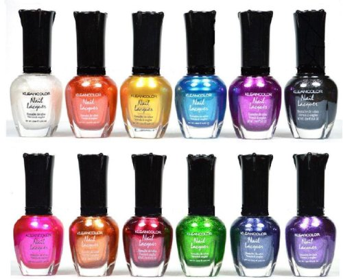 Kleancolor Nail Polish – Awesome Metallic Full Size Lacquer Lot of 12-pc Set Body Care / Beauty Care / Bodycare…