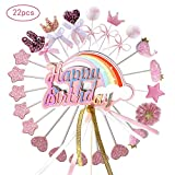 Ohighing Cake Topper Happy Birthday Rosa Kuchen Decoration Cupcake Toppers für Geburtstag Party...