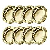 ZHAJIAN 8 Uds 70 Mm Tapas de Tarro de masón Discos de Boca Ancha Taza de enlatado Tapa de Vidrio Tapas Superiores de Acero Inoxidable Anillos de Bandas de Tornillo