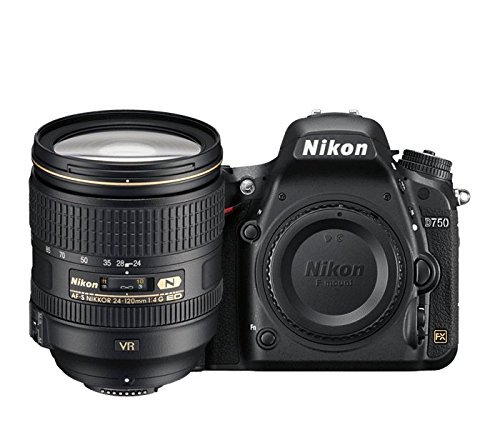 Nikon D750 24.3 MP Digital SLR Camera with 24-120 4G VR Kit + Free Lowepro Photo Hatchback 22L AW
