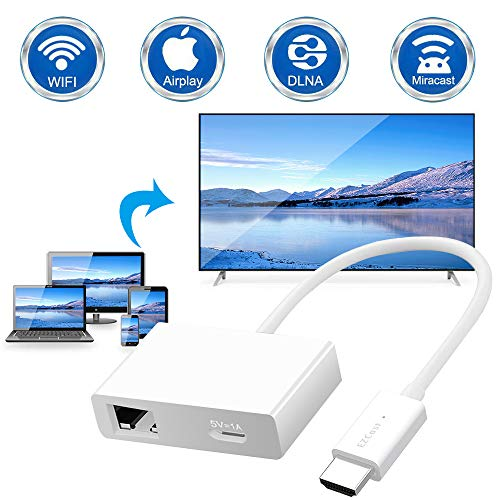DIWUER 4K HD + 5G WiFi Display Dongle HDMI, Miracast Dongle Wireless Display Empfänger Passen für Android/ iOS/ Windows/ Mac/ zu TV/ Monitor/ Projektor(Unterstützung Miracast, DLNA und Airplay)
