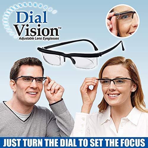 YXZQ Hacloser Adjustable Strength Lens Reading Myopia Glasses Eyewear Variable Focus Vision Eyeglass...