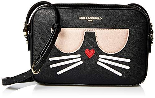 Karl Lagerfeld Paris Maybelle Choupette Kamera Crossbody, Schwarz (schwarz/gold), Einheitsgröße