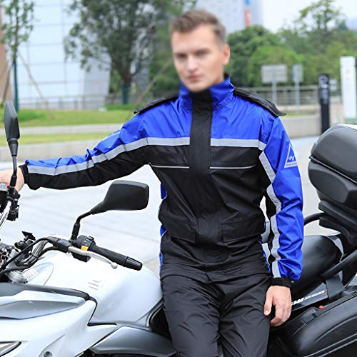 XWZJY Chaqueta de Ciclismo Impermeable para Hombres Visibilidad Impermeable de Trabajo Cortavientos Ropa de Lluvia Transpirable con Pantalones Ultraligeros y empacables, para Exteriores, campamentos