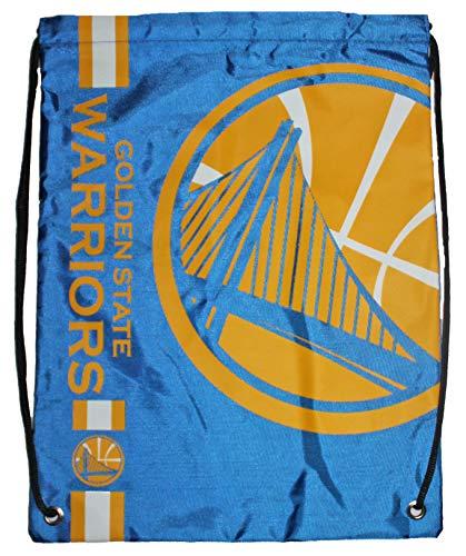 Mochila com cordão com logotipo grande da NBA Golden State Warriors