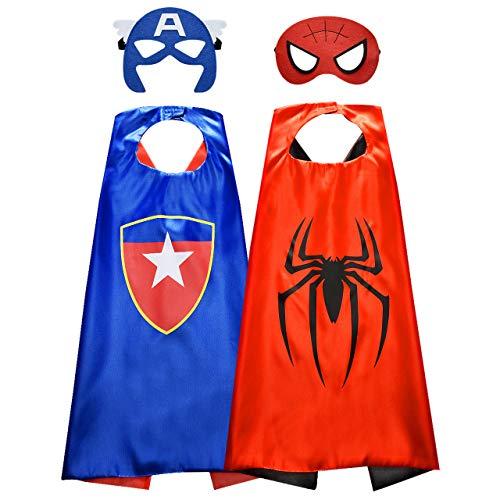 Easony Regalo de Cumpleaños Niños Niña 3-12 Años, Capas Superheroes Niños 3-12 Años Juguetes Niño Disfraces de Superheroes para Niños Rgalos para Niños de 3-12 Años Juguetes Divertidos para Niños