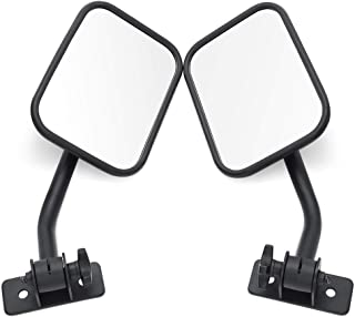 Voodonala Reflection Side Mirrors with Pillar Post Rectangular Brackets Rear View Mirror for 1996-2019 Jeep Wrangler CJ YJ TJ JK JL /& Unlimited