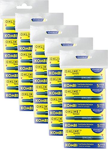 5 x 4er Pack 17026 - Kombipatronen, blau | Für alle gängigen Füllfederhalter