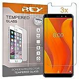 REY 3X Protector de Pantalla para VSMART Active 1, Cristal Vidrio Templado Premium