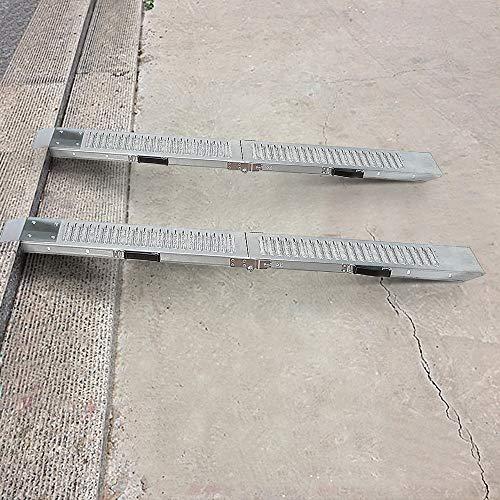 Flyelf 2 x Faltbare Auffahrrampe, Laderampen verzinkter Stahl rutschfeste Anhängerrampe Motorradrampe, Max 400kg (167x22,5x4,5cm)