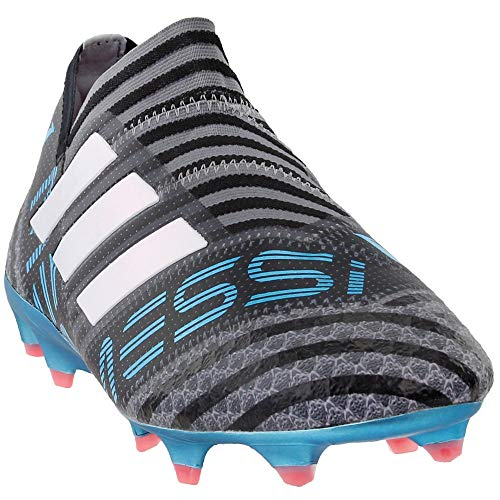 adidas Mens Nemeziz Messi 17+ 360 Agility Firm Ground Soccer Athletic Cleats, Grey, 9