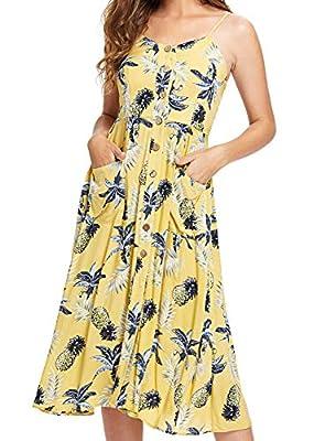 Milumia Women's Boho Button Up Split Floral Print Flowy Party Dress (X-Small, Z-Multicolor-2)
