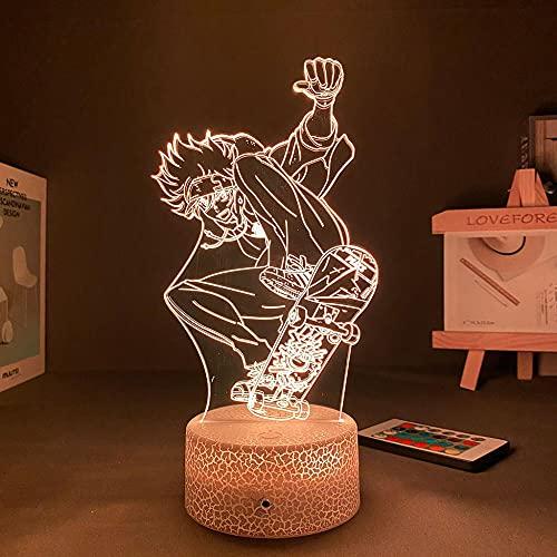 3D Led Luce notturna Talbe Lampada Illusione Figure D Anime Motion Sensor Avatar Sk8 Holiday Kids San Valentino-Crack Base_No Remote