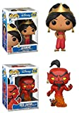 Funko POP! Aladdin: Jasmine (Red Dress) + Red Jafar (As Genie) – Disney Stylized Figure Set NEW