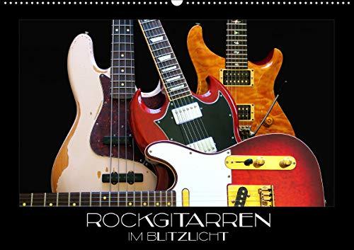 Rockgitarren im Blitzlicht (Wandkalender 2021 DIN A2 quer)