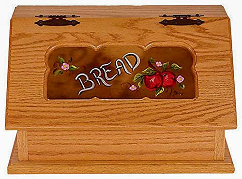 Amish Bread Box Painted Apples Seely Stain All Amish Furniture