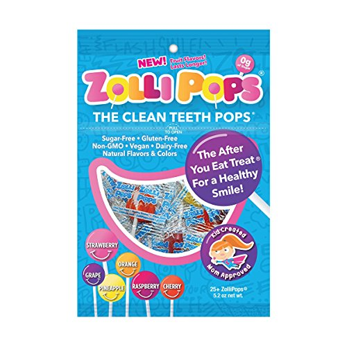 Zollipops The Clean Teeth Pops, Anti Cavity Lollipops, Delicious Assorted Flavors, 25 Count