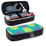 Colorido PineFruit Trendy Colors Pu Estuche para lápices de cuero, Organizador de papelería Estuche para lápices Estuche para maquillaje cosmético Bolsa para monedas