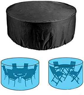 Patio Furniture Cover Outdoor Waterproof Round Table Chair Dustproof Cover for Garden Balcony Rooftop, 120X75cm