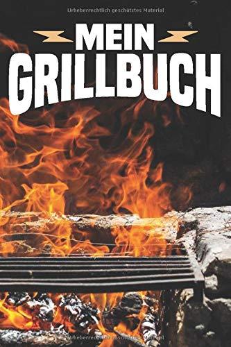 Mein Grillbuch: Grill-Rezeptbuch, BBQ, Grillrezepte zum Selberschreiben (ca. A5) DIY Rezeptbuch