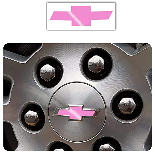 Bogar Tech Designs - Pre Cut Center Wheel Cap Vinyl Decal Sticker Compatible with Chevy Silverado 2019, Gloss Pink
