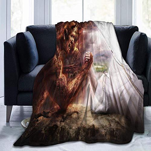 Manta de forro polar ultra suave, diseño de peces koi japoneses, decoración del hogar, manta cálida para sofá cama, 152 x 50 pulgadas