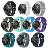 Huadea 10colors Bands Compatible with Samsung Galaxy Watch 3 45mm / Galaxy Watch 46mm / Gear S3 Frontier/Classic Smart Watch, 22mm Silicone Bands Quick Release