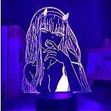 3D-Illusions-Lampe, LED-Nachtlicht, Anime-Null, zwei Kinder, Mädchen, Kinderzimmer, Dekoration, Manga-Geschenk, Schatz, beste Geburtstags-, Urlaubsgeschenke für Kinder