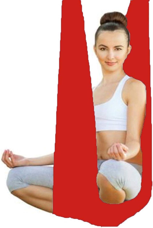 KIKBLW Aerial Yoga Hammock, Multifunktions-Anti-Schwerkraft-Yoga-Gurt Yoga-Training ohne Nhen Hngetuch,rot