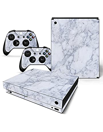 Blue Skull 2 Motif Faceplates, Decals & Stickers Video Game Accessories Xbox One X Skin Design Foils Sticker Screen Protector Set