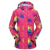 MOHAN88 Las Mujeres con Capucha Impermeable al Aire Libre de la Chaqueta de esquí de Nieve a Prueba de Viento Caliente de la Capa Ropa