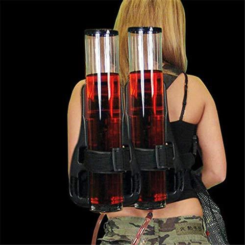 CYONGYOU Máquina de Bebidas de Doble Barril Máquina de Cerveza Mochila Bebidas Presión de Mano Dispensador de Agua Suministros de Viaje Dispensador de Cerveza
