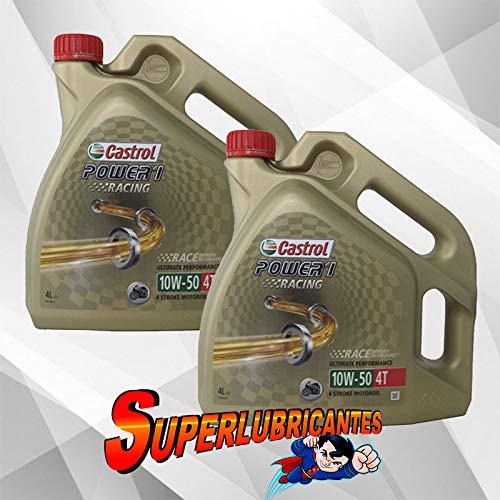 Mundocoche Castrol Power 1 Racing 4T 10W50 2x4L(8Litros)