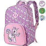 Preschool Backpack Girls, 15' Unicorn Kindergarten Backpacks