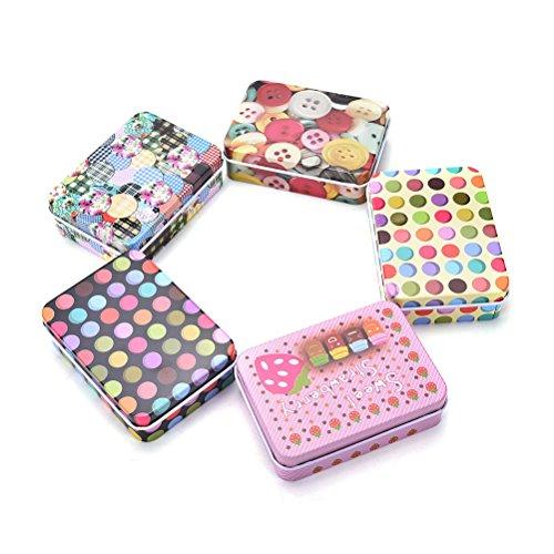Generic 90 x 65 x 28 mm, Vintage-Aufbewahrungsdose, Münztasche, Schmuckbox, hübscher Druck, für Mädchen, Geschenke, Schreibtisch, Kosmetik, Schreibwaren, Organizer
